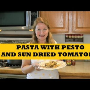 Pasta With Pesto and Sun Dried Tomatoes Easy Pantry Clean Out Recipe Cooking With Food Storage