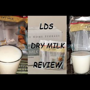 DO YOU HAVE MILK IN YOUR LONG TERM STORAGE PREPS??  LDS Non-Fat Powder Milk; REVIEW