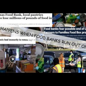 FOOD BANKS ARE RUNNING OUT OF FOOD WHILE STORE SHELVES ARE FULL - PEOPLE ARE TOO BROKE TO BUY FOOD
