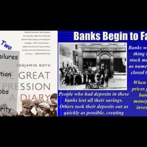 Undeniable Similarities - The GREAT DEPRESSION & PRESENT  PART2; BANK FAILURES, DEFLATION, & NO JOBS