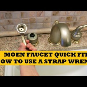 Moen Faucet Repair How To Use A Strap Wrench Bathroom Faucet Handle