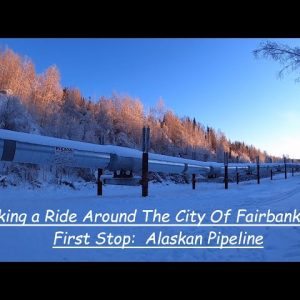 VISITING THE ALASKA PIPELINE & DRIVING AROUND THE CITY OF FAIRBANKS ALASKA
