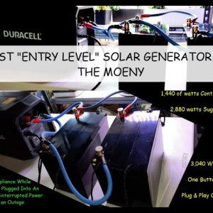 BEST & SIMPLEST ENTRY LEVEL SOLAR GENERATOR SYSTEM FOR LESS THAN $1000 - PLUG & PLAY OUT OF THE BOX