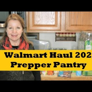 Walmart Prepper Pantry Haul Stocking Up 2021