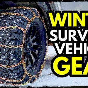 Winter Survival/ Bug Out Vehicle Tools: Tire Chains