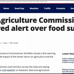 RED ALERT: Food Supply Chain Shutting Down as Blackouts Spread - Grand Solar Minimum