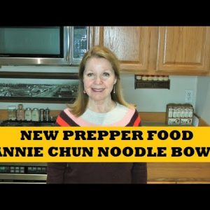 New Prepper Grab and Go Annie Chun Noodle Bowl Vegan Prepper Pantry Food Choices
