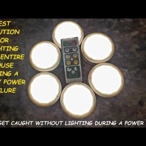 BEST GRID DOWN LIGHTING SOLUTION FOR YOUR ENTIRE HOUSE; VERY AFFORDABLE AND EASY TO USE