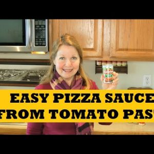 Pizza Sauce From Tomato Paste Prepper Pantry Clean Out Recipe