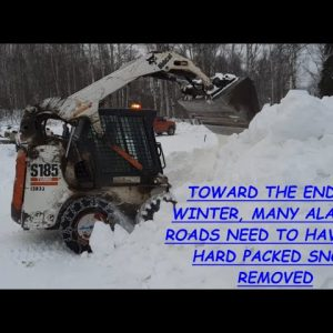 SNOW & ICE REMOVAL FROM OUR ROAD MADE EASY WITH A BOBCAT
