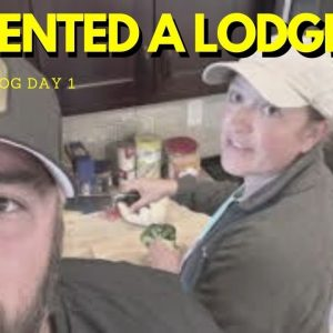 We RENTED a LODGE! + Vacation VLOG Day 1