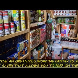 KEEP YOUR WORKING PANTRY STOCKED WITH FOOD FROM YOUR LONG TERM PANTRY & SAVE MONEY BY DOING THIS