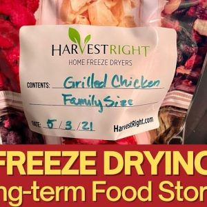 Freeze Drying Long Term Food Storage for SHTF