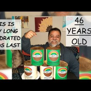 OPENING A 46 YEAR OLD CAN OF DEHYDRATED SURVIVAL FOOD