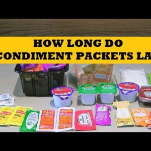 How Long Do Condiment Packets Last