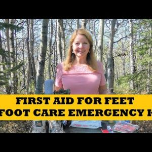 First Aid For Feet - Foot Care Emergency Kit - Hiking Camping Hunting Prepping