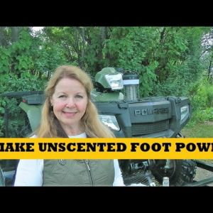 Make Unscented Body Foot Powder Hunting Hiking Backpacking Camping Scent Free Powder