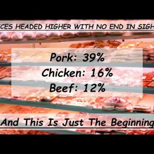 AFTER A 40% INCRASE IN THE 2nd QTR, MEAT PRICES ARE FORECASTED HIGHER; IF YOU EAT MEAT STOCK UP NOW!