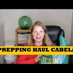 Prepping Haul Cabela's - Ammo Trail Camera Mountain House