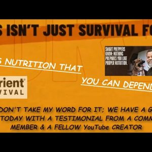 AFTER EATING NUTRIENT SURVIVAL FOR 40 DAYS IT'S NOW PART OF MY DAILY DIET; IT'S THAT GOOD!