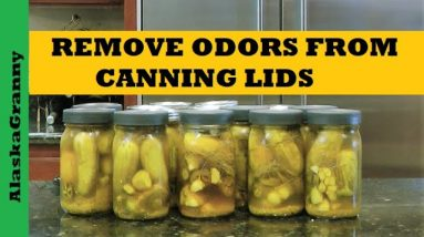 Remove Odors From Canning Jar Lids - Pickles